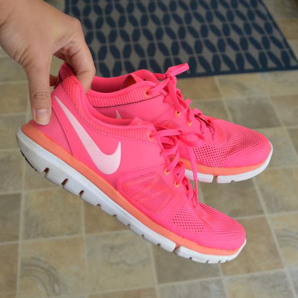 almuerzo monigote de nieve Península  Nike Shoes | Nike Flex Hot Pink Fitsole Running Shoes | Poshmark
